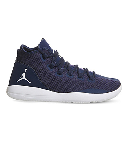 NIKE Jordan reveal leather and mesh trainers (Midnight navy gold