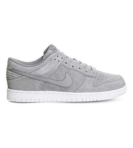NIKE Dunk Retro suede trainers (Cool+grey
