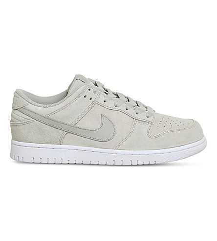 NIKE Dunk Retro suede trainers (Pale+grey+suede