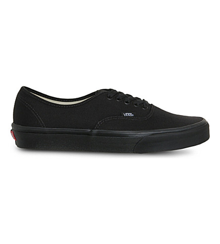 VANS Authentic low-top trainers (Black+mono