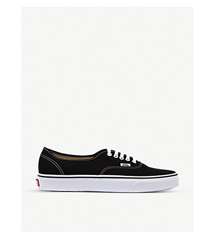 VANS Authentic low-top trainers (Black+white