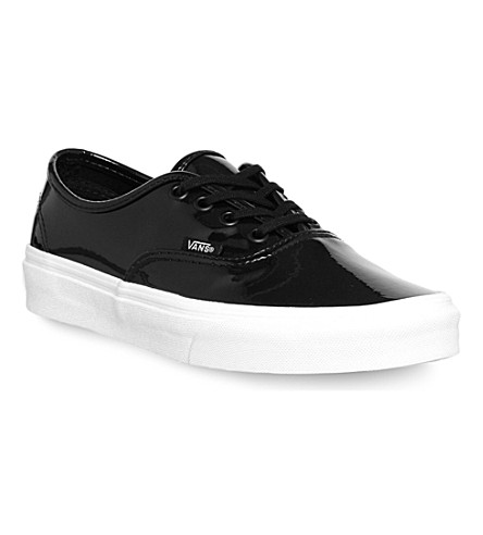 VANS Vans authentic canvas trainers (Patent leather black