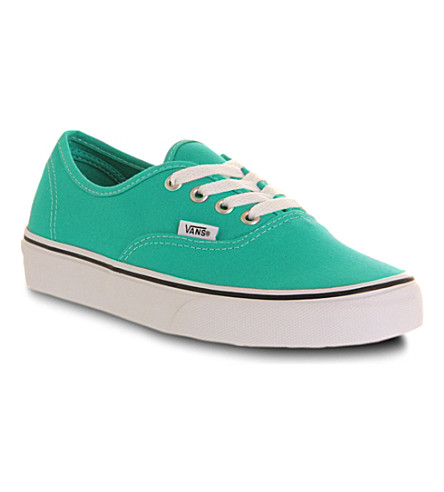 VANS Authentic canvas trainers (Aqua green white