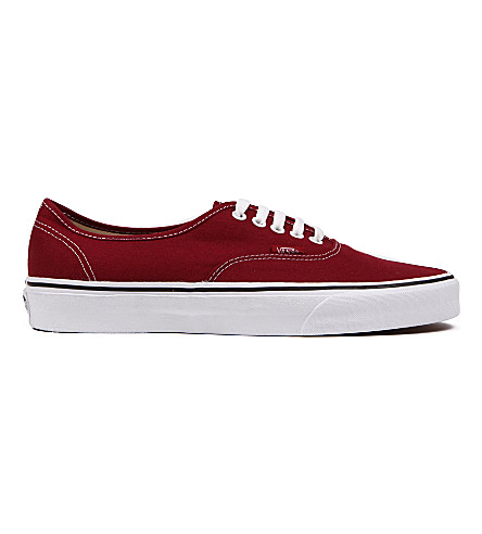 VANS Authentic low-top trainers (Biking+red+white