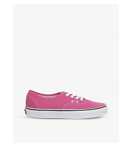 VANS Authentic canvas trainers (Hot+pink+true+white