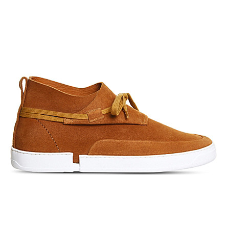 CASBIA William mid-top suede trainers (Hazel