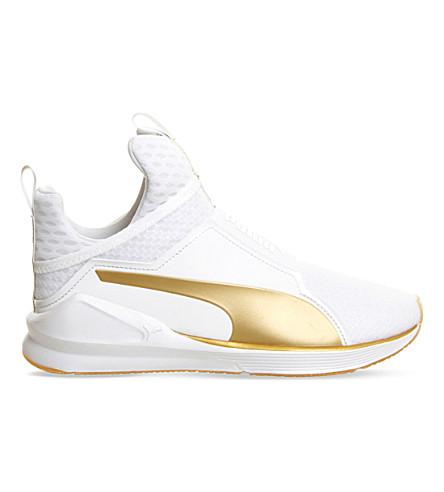 PUMA Fierce high-top trainers (White+gold 40aec0fb1