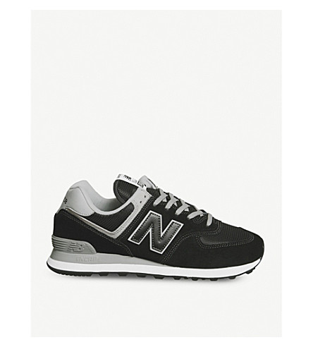NEW BALANCE 574 suede and mesh trainers (Black