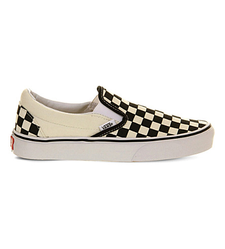 VANS Classic slip-on trainers (Black+wht+check