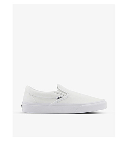 VANS Classic canvas slip-on trainers (White+mono