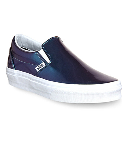 VANS Classic slip-on trainers (Patent leather blue