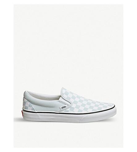 VANS Vans classic slip on (Blue+checkerboard
