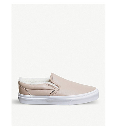 VANS Classic leather slip-on trainers (Mahogany+rose