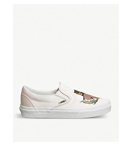 VANS Vans Classic slip-on satin skate shoes (Rose+dust+embroidery