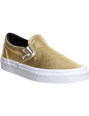 VANS Classic slip on leather trainers