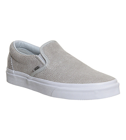 VANS Classic slip-on leather trainers (Glacier grey snake