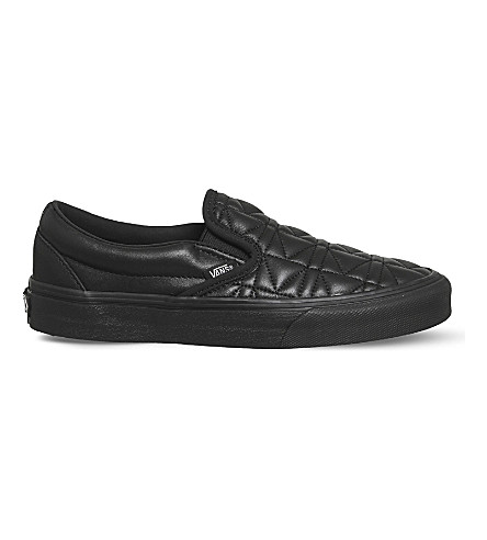 VANS Vans x Karl Lagerfeld Classic leather slip-on trainers (Karl+lagerfeld+black