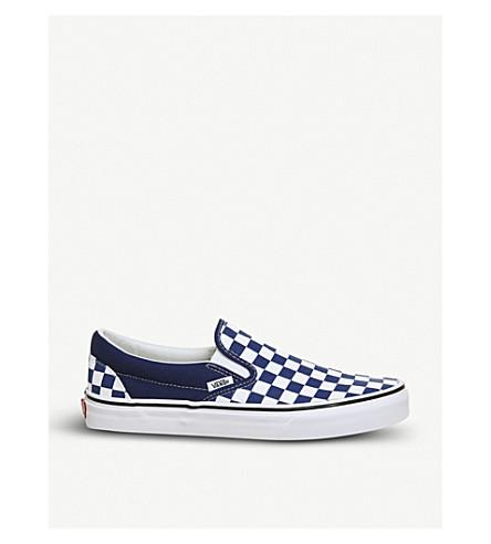 VANS Classic checkerboard-print canvas skate shoes (Estate+blue+white