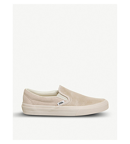 VANS Classic slip-on suede skate shoes (Silver+peony+eggnog
