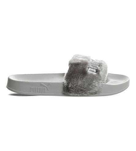 c362628efe38 PUMA Puma x fenty faux-fur leadcat sliders (Grey