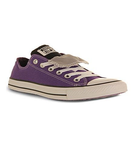 CONVERSE All Star double-tongue low-top trainers (Laker grey