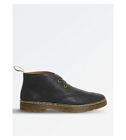 DR. MARTENS Cabrillo Wyoming leather desert boots (Black+leather