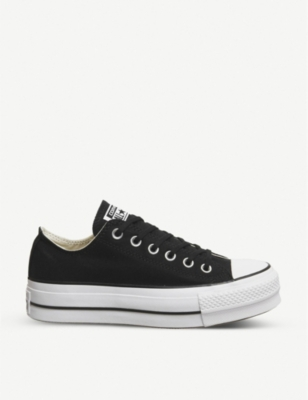 Women'S Chuck Taylor All Star Lift Low Casual Shoes, Black in Black/White