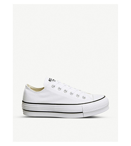 ... CONVERSE All Star Low Platform canvas trainers (White+garnet+navy.  PreviousNext 408d58925