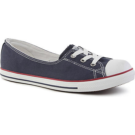 CONVERSE Dance lace low-top trainers (Navy