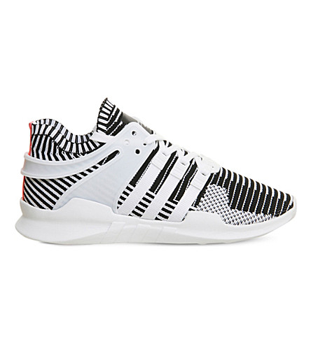 ADIDAS Equipment support ADV patterned mesh trainers (White+black+pk