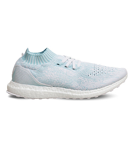ADIDAS UltraBOOST Uncaged Parley Primeknit trainers (Ice+blue+white