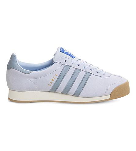 ADIDAS Samoa Vintage suede trainers (Tactile+blue+gum