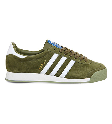 ADIDAS Samoa vintage suede trainers (Olive white