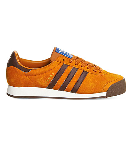 adidas samoa white and orange