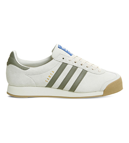 ADIDAS Samoa Vintage suede trainers (Talc+trace+cargo+gum
