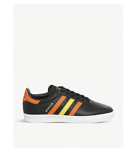 ADIDAS 350 皮革运动鞋 (黑色 + 橙色 + 黄色)