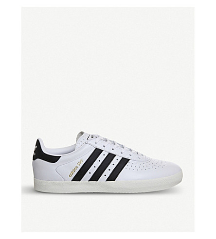 ADIDAS 350 leather trainers (White+black+white
