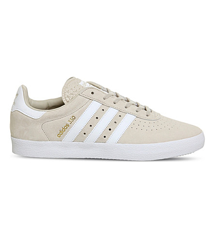 ADIDAS 350 suede trainers (Clear+brown+white