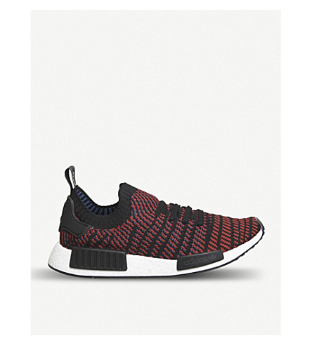 ADIDAS NMD R1 Primeknit trainers (Core+black+red