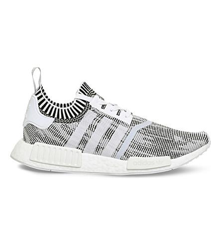 ADIDAS NMD R1 Primeknit trainers (White+white+black