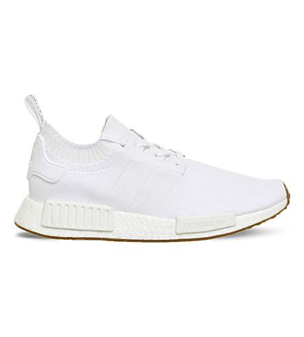 ADIDAS NMD R1 Primeknit trainers (White+white+gum