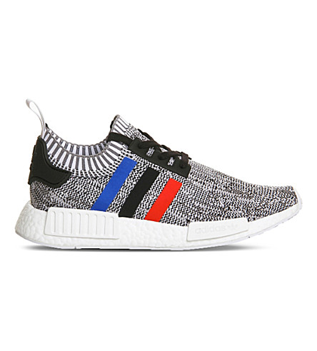ADIDAS NMD R1 Primeknit sneakers (White core red black