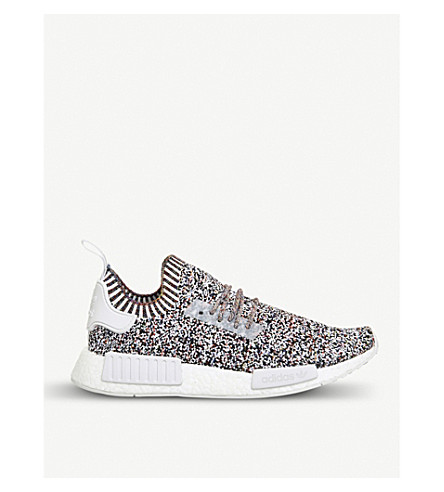 ADIDAS NMD R1 Primeknit trainers (White+static