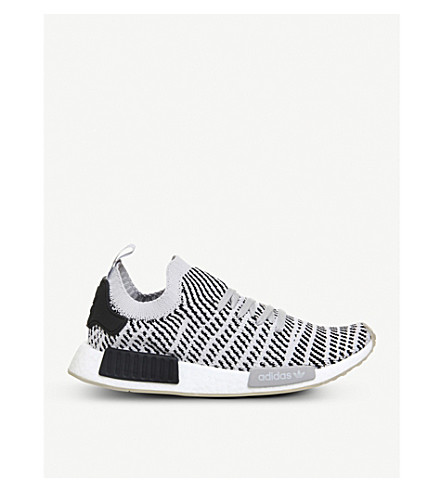 ADIDAS NMD R1 PrimeKnit trainers (Grey+core+black