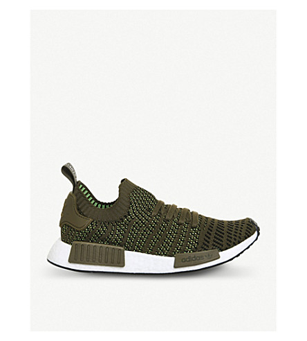 ADIDAS NMD R1 Primeknit trainers (Trace+olive