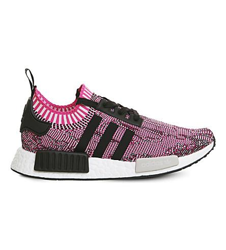 ADIDAS NMD R1 Primeknit trainers (Shock+pink+black