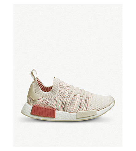ADIDAS NMD R1 Primeknit trainers (Linen+crystal+white