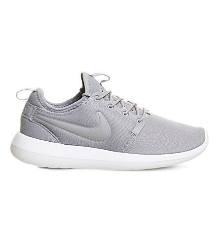 NIKE Roshe Two low-top mesh trainers (Wolf+grey+white