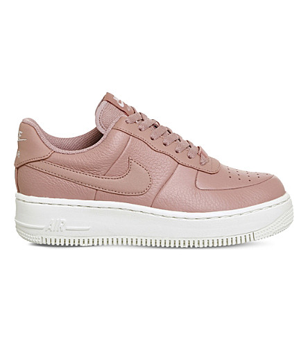 NIKE Air Force 1 Upstep leather trainers (Red+stardust+sail