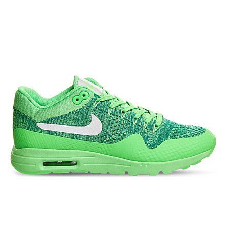 NIKE Air Max 1 ultra flyknit trainers (Voltage+green